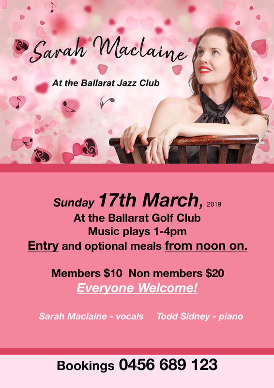 Sarah Maclaine at the Ballarat Jazz Club